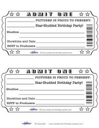 Printable Admit One Invitations Coolest Free Printables Movie Theatre Birthday Party Night