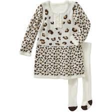 healthtex newborn baby girl sweater u0026 tights dress 2 piece