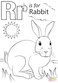 Letter R Coloring Page Is For Rabbit Free Printable Pages Picture