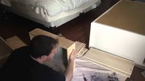 Hemnes Dresser Instructions 3 Drawer by Hemnes Dresser Assembly From Ikea Youtube