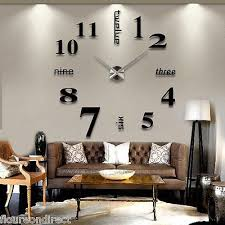 spiegel 3d design wand uhr wohnzimmer wanduhr wandtattoo