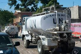 100 Nations Truck Unitaed UN Water S In Port Au Prince Haiti Stock Photo