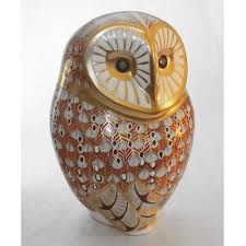Barn Owl Paperweight | Royal Crown Derby Collection | RSPB Shop Winter Owl Paperweight Royal Crown Derby Collection Rspb Shop A Large Prestige Edition Paperweight Long Eared The Barn Gift 91papbox62729_07jpg Lot 250 Printed Mark Colctables Exclusive Collections Robin Happy Birthday Bear A Beswick Owl 1046 2 Porcelachina Pottery Porcelain Glass