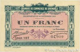 chambre commerce grenoble 1 franc regionalism and miscellaneous grenoble 1916 jp