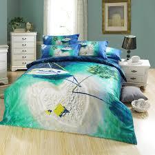 3D Heart shaped Island Blue Ocean Seagreen Palm Tree Designer