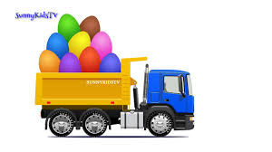 Trucks For Kids. Dump Truck. Surprise Eggs. Learn Fruits. Video For ...