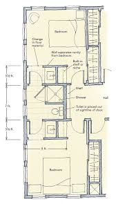 5x8 Bathroom Floor Plan by Jack And Jill Bathrooms Fine Homebuilding