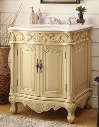 adelina 27 inch antique bathroom vanity light beige finish