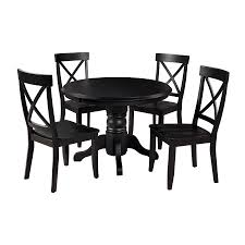Home Styles Black 5-Piece Dining Set With Round Dining Table At ... 5 Pc Small Kitchen Table And Chairs Setround 4 Beautiful White Round Homesfeed 3 Pc 2 Shop The Gray Barn Spring Mount 5piece Ding Set With Cm3556undtoplioodwithmirrordingtabletpresso Kaitlin Miami Direct Fniture Upholstered Chair By Liberty Wolf Of America Wenslow Piece Rustic Alpine Newberry 54 In Salvaged Grey Art Inc Saint Germain 5piece Marble Set 6 Chairs Tables