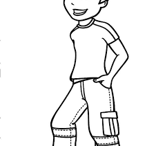 Boy Coloring Pages Free Printable For Kids Image