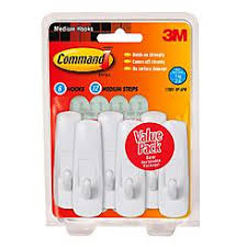 Command Hooks And Strips Medium 6 12 Pk