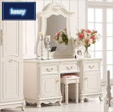 chambre avec meuble blanc haut de gamme de mariage moderne coiffeuse meubles de maison blanc