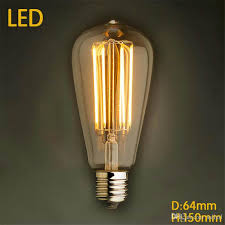 st64 4w 6w 2200k cri 80 no dimmable edison tungsten filament