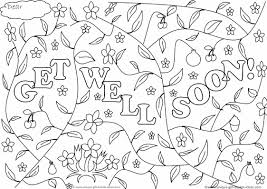 Get Well Soon Adult Coloring Page