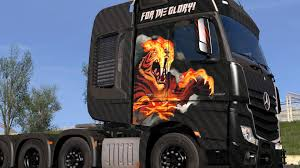 MERCEDES BENZ ACTROS 2014 - FOR THE GLORY! PAINTJOB 1.30.X TRUCK ...
