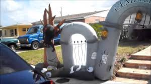 Inflatable Halloween Cat Archway by Popular Outdoor Halloween Inflatable Yard Decoration Youtube