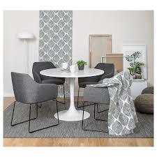 tossberg stuhl metall schwarz grau