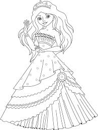 Princess Ariel Face Coloring Pages Stock Illustration Mermaid Page Baby Dress Full Size