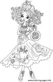 Briar Beauty Way Too Wonderland Ever After High Coloring Pages