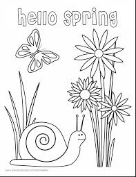 Outstanding Hello Spring Printable Coloring Page With Pages And