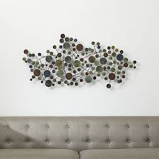 Contemporary Cosgrove Metal Wall Sculpture Crate And Barrel Within Remodel 0