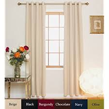 108 Inch Blackout Curtains by Amazon Com Beige Rod Pocket Energy Saving Thermal Insulated