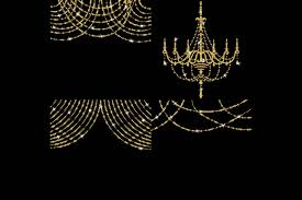 Gold Glitter String Lights Clipart Example Image 4