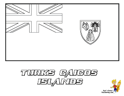Flag Coloring Turks And Caicos Islands At YesColoring