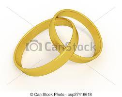 Two Wedding Rings Stock Illustration