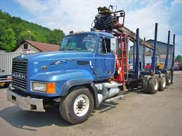 2002 Mack CL713 Tri Axle Log Truck For Sale By Arthur Trovei & Sons ...
