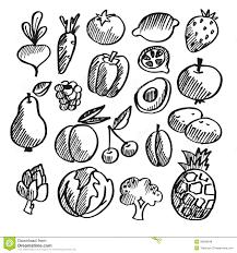 Fruits & Ve ables clipart sketch 2