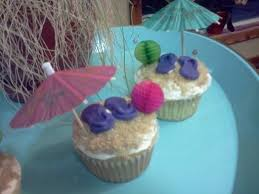 Beach Themed Cupcakes I Did For A Teachers Retirement Party