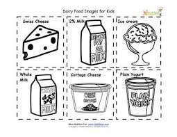 Dairy Food Nutrition Flash Cards Cut Out Printable For Kids