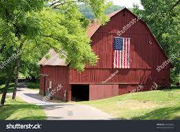 Attractive Red Barn American Flag Stock Photo 33224662 - Shutterstock Red Barn Green Roof Blue Sky Stock Photo Image 58492074 What Color Is This Bay Packers Barn Minnesota Prairie Roots Pfun Tx Long Bigstock With Tin Photos A Stately Mikki Senkarik At Outlook Farm Wedding Maine Boston 1097 Best Old Barns Images On Pinterest Country Barns Photograph The Palouse Or Anywhere Really Tips From Pros Vermont Weddings 37654909