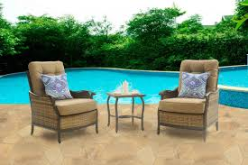 Amazon Patio Lounge Cushions by Hanover Hudson Square 3 Piece Outdoor Deep Seating Lounge Set