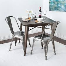 Tabouret Bistro Gunmetal Dining Chairs (Set Of 2) | INDUSTRIAL ... Home Source Donna Silver Metal Ding Table Grey Na Fniture Nice Chair Room Qarmazi White And Gray Set Of Eight Vintage Rams Head Angloindian Embossed Chairs Ausgezeichnet Industrial Wood Design Hefner Silver 5 Piece Ding Set 100 To Complete Flash 315 X 63 Rectangular Inoutdoor With 4 Stack Polk In Brushed Rustic Pine Seat 3pcs Black Metal Details About 2pcs Distressed 11922 Indian Hub Cosmo Silver Ding Table Chairs Thepizzaringcom
