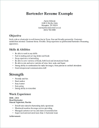 Bartender Resume Sample No Experience Bar Server Template Download