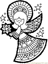 Christmas Angel Coloring Page 09 Download