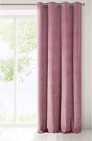 eurofirany samt vorhang velvet dunkelrosa rosa erikafarben einfarbig glatt 8 ösen 1 stk flauschig weich modern klassisch wohnzimmer schlafzimmer