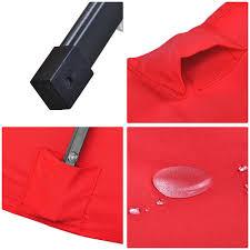 Tilt Patio Umbrella With Lights by 10 U0027x6 5 U0027 Patio Solar Umbrella Led Light Tilt Deck Waterproof