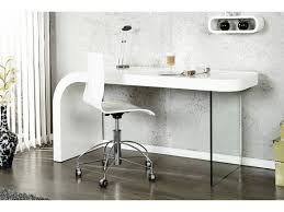 bureau design bureau design blanc laque et verre timmen