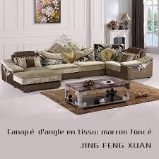 canapé d angle marron canapé d angle style royal en tissu marron
