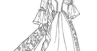 Beauty Princess Dress Coloring Pages Disney