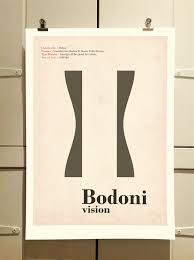 Graphic Design Bodoni Poster By Theory Unit