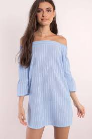 light blue dress off shoulder dress blue smock dress shift