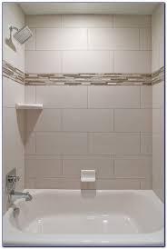 accent tile in shower ideas tiles home design ideas