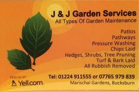 J & J Garden services in Bucksburn Aberdeen