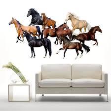wohnkultur 3d pferde wandaufkleber wandtattoos vinyl aufkleber room decor für wohnzimmer schlafzimmer dekoration