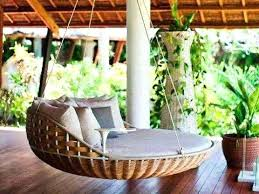 Round Swing Chair Outdoor Bed Design Ideas Brown Rattan With Grey Seats Ikea