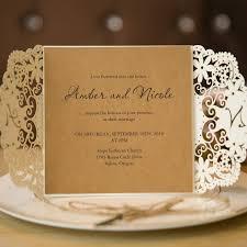 Vintage Wedding Invites With Laser Cut Pockets SWWS003 2